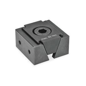 GN 920.1 Cuña de sujeción de acero Tipo: GA - Con 2 roscas de fijación para mordazas de fijación
