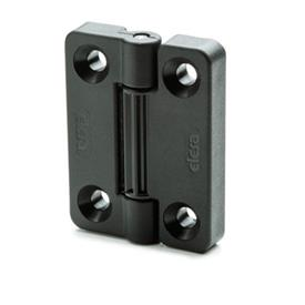 EN 222 Technopolymer Plastic Hinges with 4 Indexing Positions