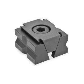 GN 920.1 Steel Wedge Clamps Type: PR - With prismatic clamping jaws