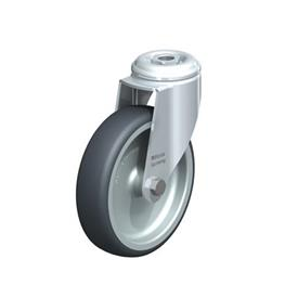 LKRA-TPA Steel Light Duty Swivel Casters, with Thermoplastic Rubber Wheels and Bolt Hole Fitting, Heavy Bracket Series  Type: G - Plain Bearing