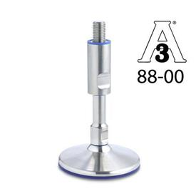 GN 20 Stainless Steel Leveling Feet, Hygienic Design, without Mounting Holes
