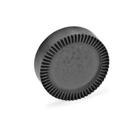 GN 187.4 Placas de bloqueo dentadas de acero sinterizado Tipo: E - sin perforaciones, sin mecanizar, no endurecido