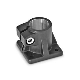 GN 163 Aluminum, Base Plate Connector Clamps Finish: SW - Black, RAL 9005, textured finish