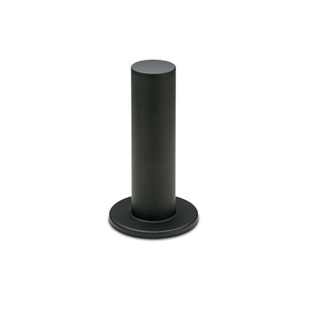 EN 539.2 Empuñaduras cilíndricas de plástico, con protección para manos, tipo roscado Tipo: A - Con protección para manos en uno lados