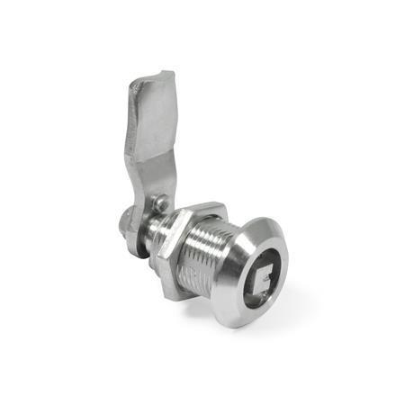 GN 516.5 Cerrojos de compresión de acero inoxidable Tipo: VK8 - Funcionamiento con eje cuadrado A/F8