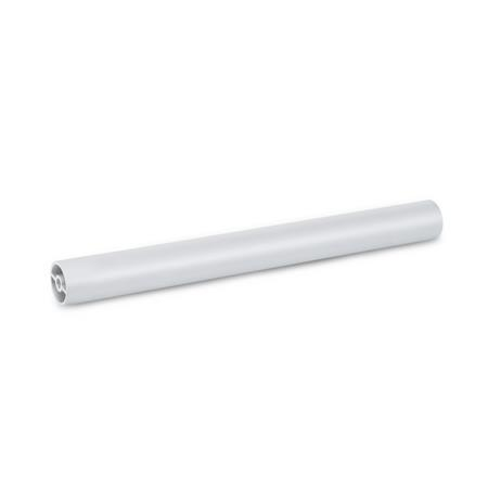 GN 930 Aluminum Handle Tubes, with Screw Channel Finish: EL - Anodized finish, natural color
