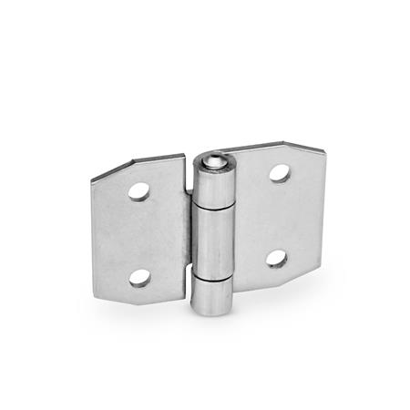 GN 1364 Stainless Steel Sheet Metal Hinges, Wing and Extended Wing Width l<sub>1</sub>: 70