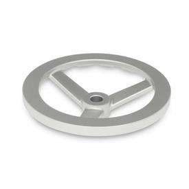 GN 949 Stainless Steel, Three Spoked Handwheels, with or without Revolving Handle Bore code: B - Without keyway<br />Type: A - Without handle