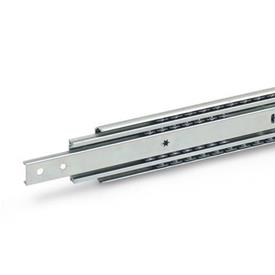 GN 1432 Steel Telescopic Slides, with Full Extension and Self-Retracting Mechanism, Load Capacity up to 517 lbf