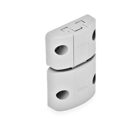 EN 449 Technopolymer Plastic Snap Door Latches Type: A - Snap latch, without hook, without finger handle Color: LG - Gray, matte finish