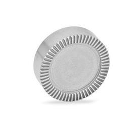 GN 187.4 Placas de bloqueo dentadas de acero inoxidable Tipo: E - Sin agujeros, acabado liso, no endurecido