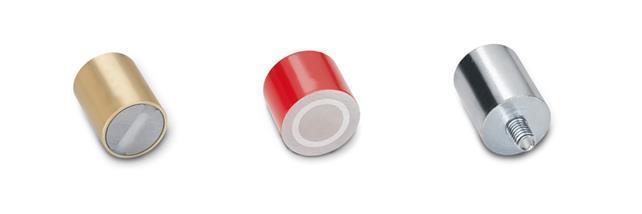 Imanes de retención, forma de cilindro