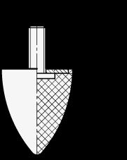 GN 453.1 Soportes de absorción de vibración/impacto, de tipo cónico, con componentes de acero inoxidable boceto