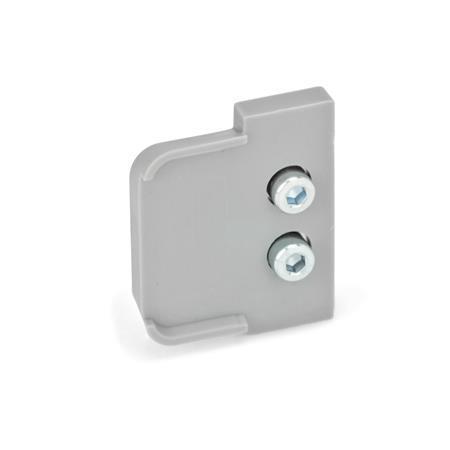 GN 2428 Medidas métricas, limpiadores para rieles de guías lineales, para rieles de guía de rodillos GN 2422 Tipo: U - para rieles de cojinetes flotantes