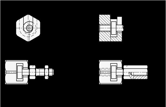 GN 240 Acoplamientos de ajuste rápido de acero, con compensación radial boceto