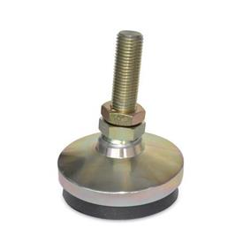 "AVM Inch Thread, ""Anti-Vibe®"" Anti-Vibration Leveling Mounts, Threaded Stud Type"