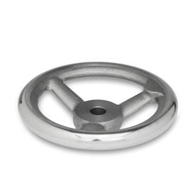 GN 950.1 Cast Iron Spoked Handwheels with Large Hub, with or without Revolving Handle Bore code: B - Without keyway<br />Type: A - Without handle