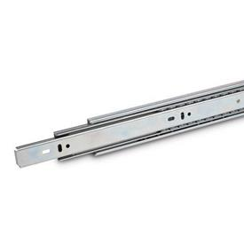 "GN 1418 Steel Telescopic Slides, with Full Extension and ""Push to Open"" Mechanism, Load Capacity up to 96 lbf"