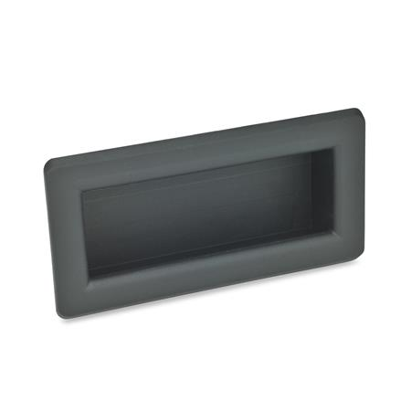 EN 739.1 Technopolymer Plastic Gripping Trays, Clip-In Type Color: SG - Black-gray, RAL 7021, matte finish