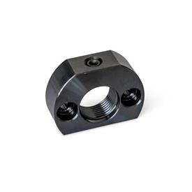 GN 612.1 Steel Mounting Blocks, for Indexing Plungers / Cam Action Indexing Plungers Type: A - Mounting holes parallel to plunger
