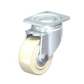 LH-GSPO Rodajas giratorias de acero con rueda de nylon fundido, con placa de montaje, serie de soportes de servicio medio Type: K - Cojinete de bolas