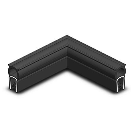 GN 2181 Edge Protection Seal Profile Corners, Material NBR / EPDM (UL Certified) Type: A - Upper seal profile