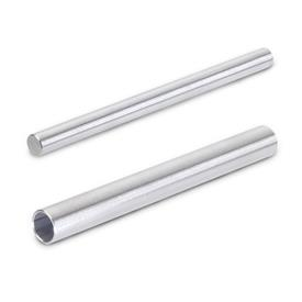 GN 480.1 Stainless Steel, Solid Round Shafting and Hollow Round Tubing