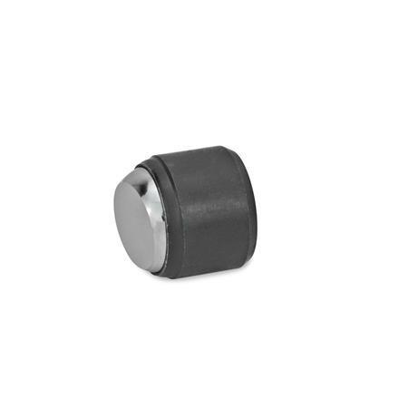 GN 709.2 Almohadillas de sujeción de acero, con cuerpo roscado Tipo: B - Cara de contacto lisa