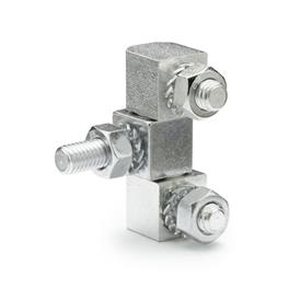 GN 129 Steel Zinc-Plated Hinges, 2 Part Lift-Off and 3 Part Solid