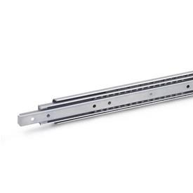 GN 1460 Stainless Steel Telescopic Slides,  with Full Extension, Load Capacity up to 236 lbf