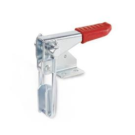 GN 851.1 Steel Vertical Latch Type Toggle Clamps, Horizontal Mounting Base, with Vertical Clamping Arm Type: T3 - With U-bolt latch, with catch
