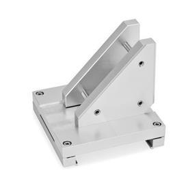 GN 900.3 Juegos de conexión X-Z, de aluminio  Tipo: P - Montaje del eje Z mediante una placa de conexión y una placa adicional