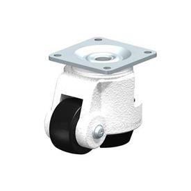 HRP-POA Rodajas de nivelación de servicio medio de acero, con Truck Lock integrado y accesorio de placa superior Type: G - Cojinete liso