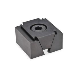 GN 920.1 Steel Wedge Clamps Type: GL  - Smooth clamping surfaces