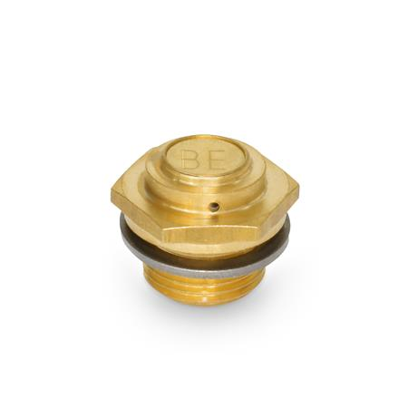 GN 884 Brass Breather Filters Type: A - Low design