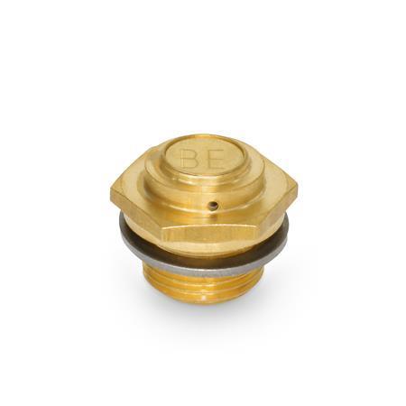 GN 884 Filtros de ventilación de latón Tipo: A - diseño bajo