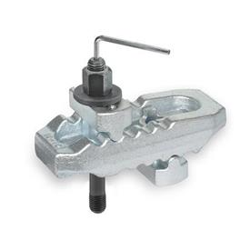 NO. 6312 VI Steel Crocodile Clamps, with Adjustable Holders and Stud Bolt with Internal Hexagon