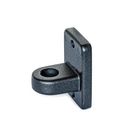 GN 271.4 Soportes para sensor, aluminio Acabado: SW - Negro, RAL 9005, acabado texturizado