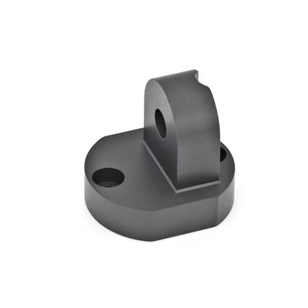 GN 485 Aluminum Swivel Clamp Connector Bases Finish: ELS - Black anodized finish
