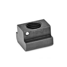 GN 508.2 Steel T-Slot Nuts, Slip Proof Property class: 10 - Blackened finish