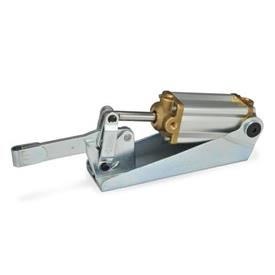 GN 860 Steel Pneumatic Toggle Clamps, with Magnetic Piston Type: EP3 - Solid bar version, with clasp