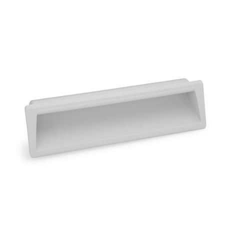 EN 731.1 Technopolymer Plastic Gripping Trays, Clip-In Type Color: GR - Gray, RAL 7035, matte finish