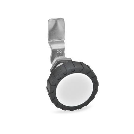 GN 516.5 Cerraduras de compresión de acero inoxidable Tipo: RG - Funcionamiento con perilla moleteada GN 7336