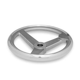 GN 950.6 Stainless Steel, Spoked Handwheels, with or without Fixed Handle Bore code: B - Without keyway<br />Type: A - Without handle