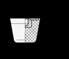 GN 253 Soportes de absorción de vibración/impacto, de tipo cónico, con componentes de acero, orificio roscado boceto