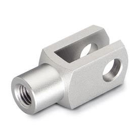 GN 71752 Inch Size, Stainless Steel Clevis Fork Joint, Plain Fork Type