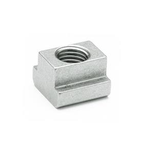 DIN 508 Tuercas para ranuras en T de acero inoxidable