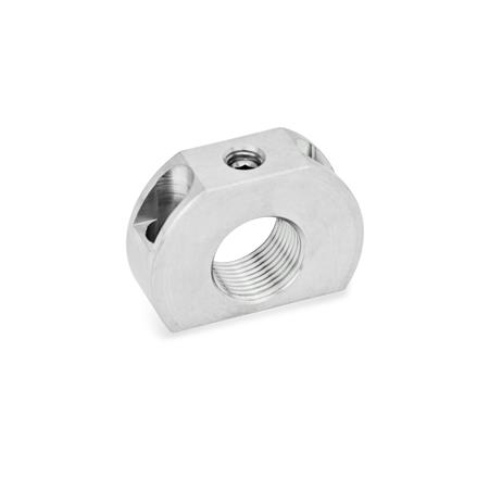 GN 612.1 Stainless Steel Mounting Blocks, for Indexing Plungers / Cam Action Indexing Plungers Material: NI - Stainless steel Type: B - Mounting holes vertical to plunger