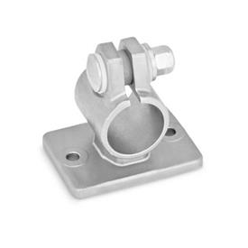 GN 146.6 Stainless Steel, Flanged Connector Clamps, with Two Mounting Holes Type: B - with sealing