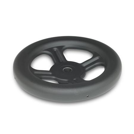 GN 227.1 Steel, Spoked Handwheels, without Handle Bore code: B - Without keyway